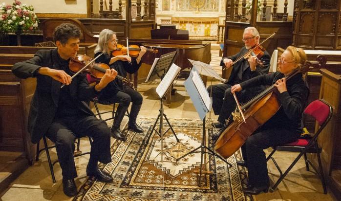 Wiltshire Quartet and guests play Mendelssohn Octet and Mozart's Quintet K516 at All Saints Church Farley on 17 April