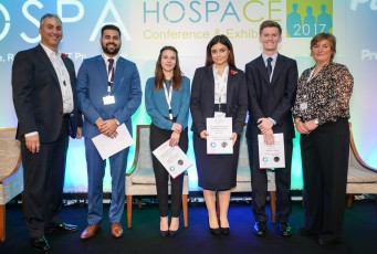 Winners of HOSPA's '2017 Hospitality Career Investment Development Scholarships', sponsored by IDeaS, announced and recognised at HOSPACE2017